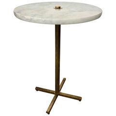 Italian Brass and Marble Occasional Table