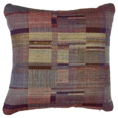 Indian Handwoven Pillow Sunrise Plaid