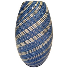 Dino Martens Murano Artistic Blown Glass Espiral Vase, circa 1950