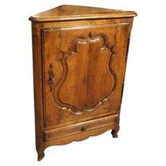 Antique Corner Cabinet Confiturier from France