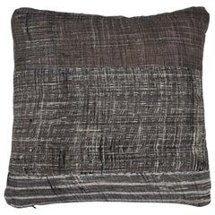 Indian Patchwork Grey Pillow