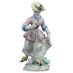 Figure: Running Girl, Bow Porcelain Factory, circa 1756