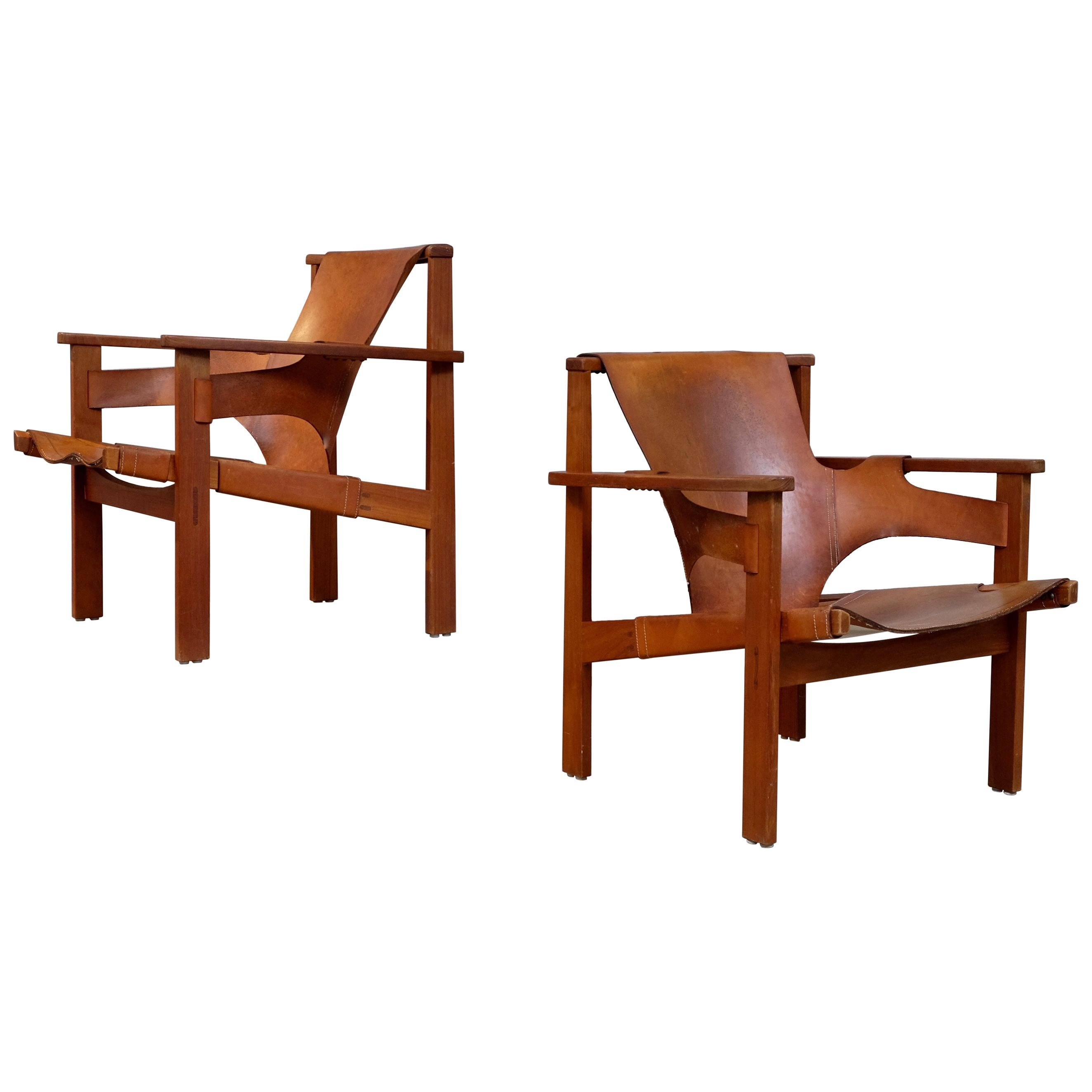"""Pair of """"Trienna"""" Easy Chairs by Carl-Axel Acking, 1950s"""