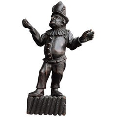 19th Century Italian Pulcinella 'Polichinelle' Wooden Figure