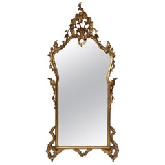 Early 20th Century Italian Carved Gilt Wall Mirror