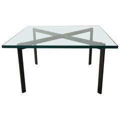 Rare Early Midcentury Bronze Base Barcelona Table by Knoll