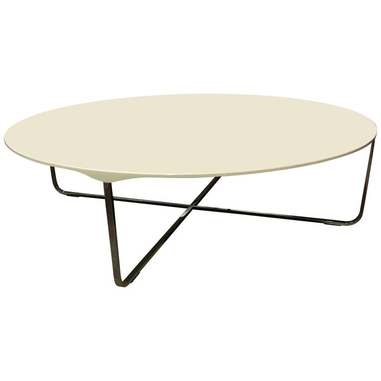 High Gloss White Coffee Table Round Angle Black Glass Top: Montis White High Gloss Flint Coffee Table For Sale At 1stdibs