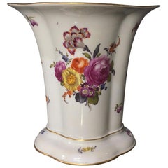 Large Vienna vase, flower groups, c.1780