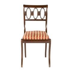 Fine Set of Four Mahogany Chairs, Italy, circa 1950