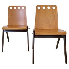 Pair of Stacking Chairs, circa 1950, Austria