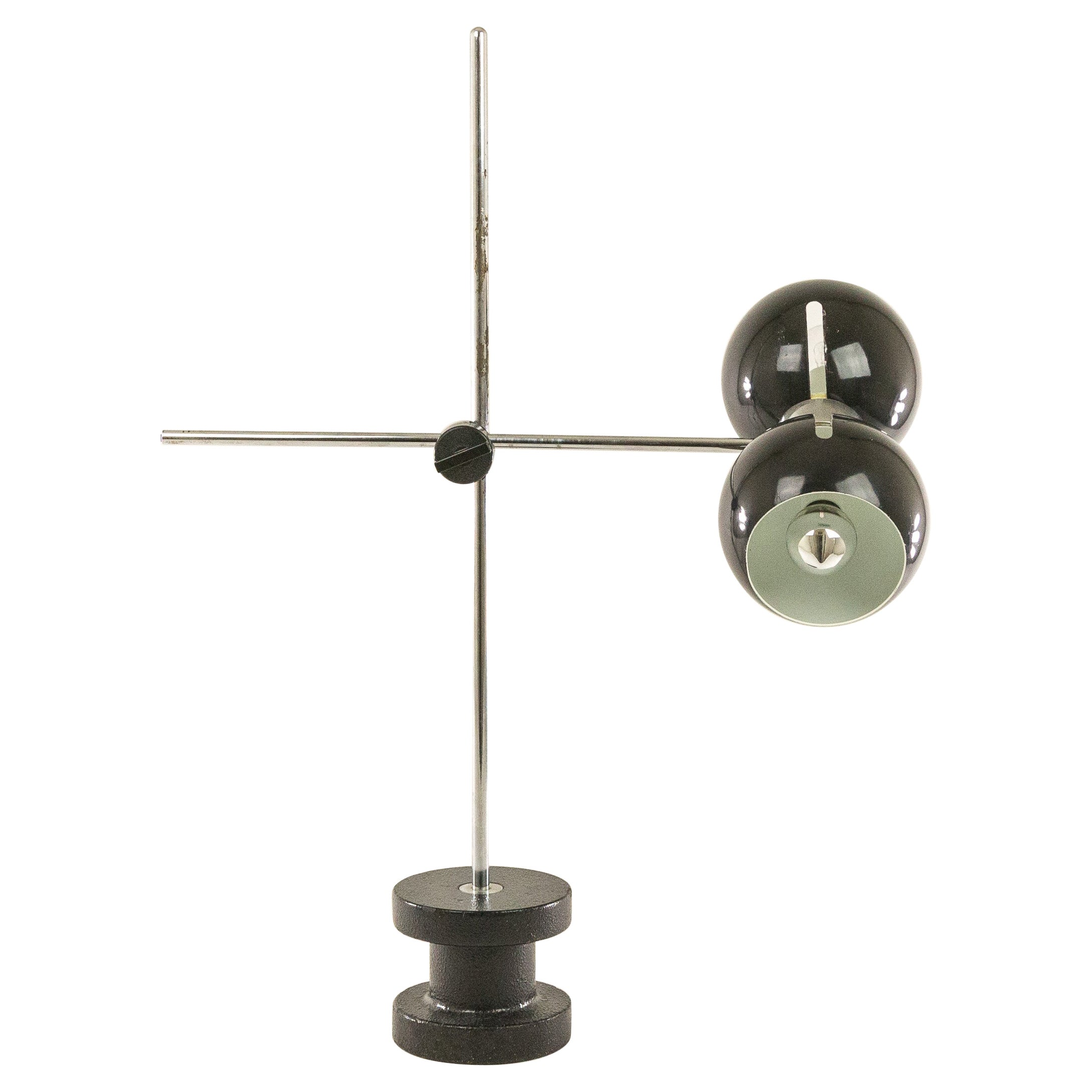 Adjustable Table Lamp with Cast Iron Base by Valenti, 1970s