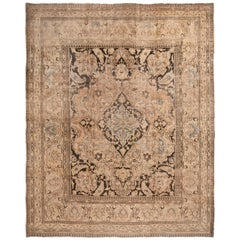 Antique Doroksh Khorassan Medallion-Style Wool Rug