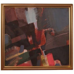 Abstract Oil on Board by John Wipp '1927-2005'