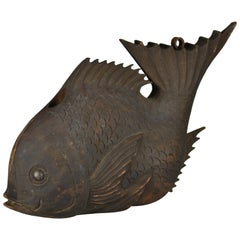 Edo Period Counterbalance for a Traditional Kettle Hook in Shape of a Sea Bream