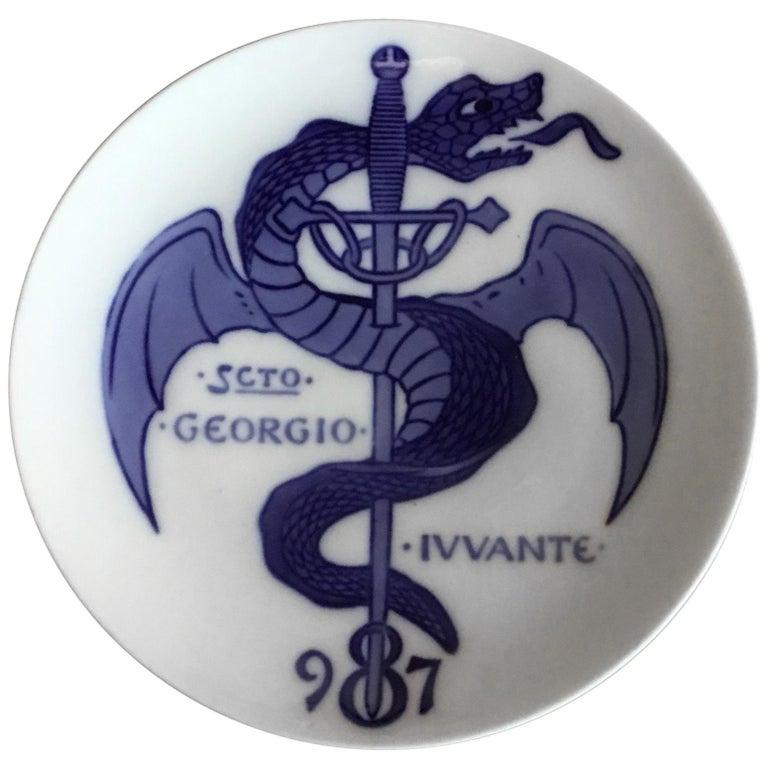 Royal Copenhagen Commemorative Plate from 1897 RC-CM14 For Sale