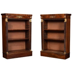Pair of Regency Mahogany Open Bookcases