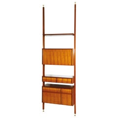 Vittorio Dassi Midcentury Rosewood and White Maple Wood Italian Bookcase, 1950s