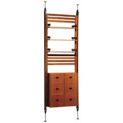La Permanente Cantu Midcentury Iron and Wood Italian Bookcase, 1950s