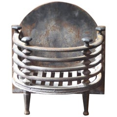 English Victorian Fireplace Grate, Fire Basket