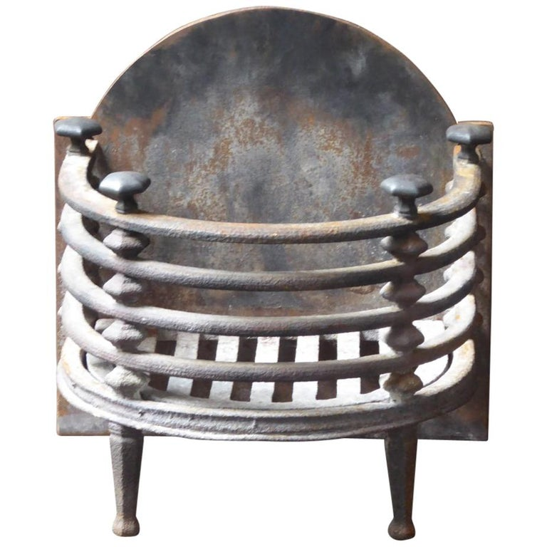 English Victorian Fireplace Grate, Fire Basket For Sale
