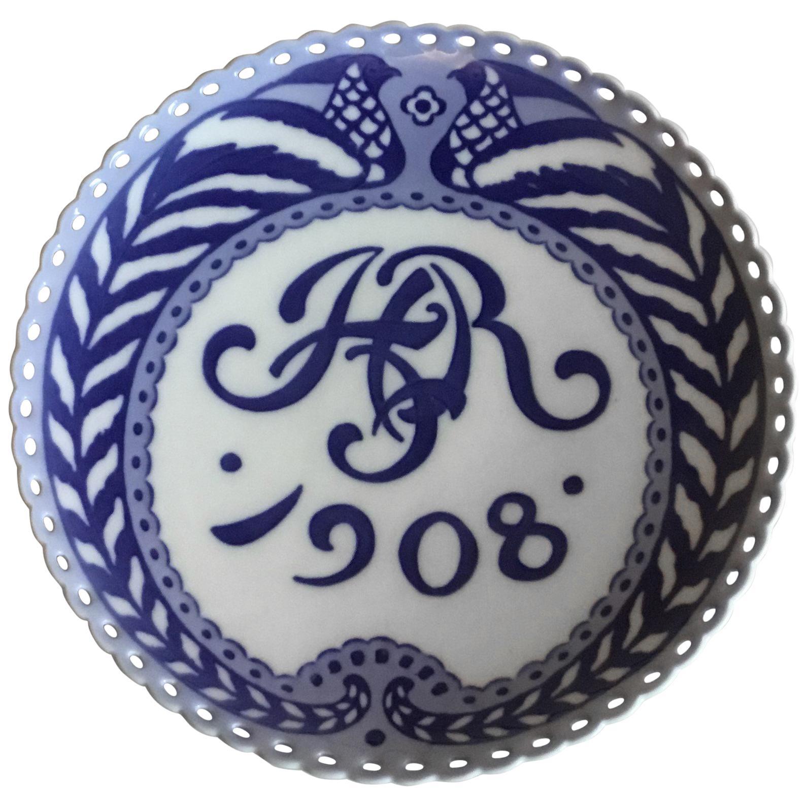 Royal Copenhagen Commemorative Plate from 1908 RC-CM83