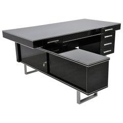Bauhaus Design Desk in High Gloss Black