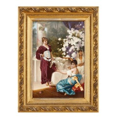 Porcelain Plaque with Orientalist Painting by KPM