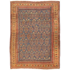 20th Century, Antique Wool Rug, Kazak with Geometric Design, circa 1901
