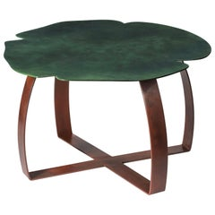 Small Table Andy Iron Tall, Flower Shape, Lacquered Iron, Italy