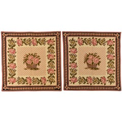 Needle Point Pair of Bedside Carpets or Children Headboards