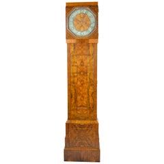 Art Deco Burl Walnut and Shagreen Clock and Cabinet, English, circa 1925
