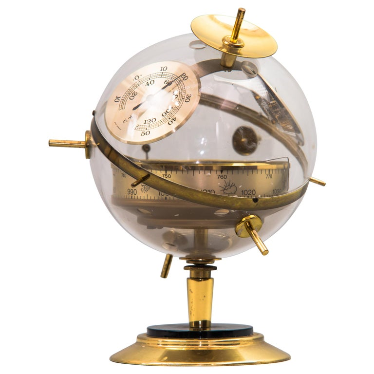 """Sputnik"" Table Barometer Weather Station by Huger Germany, 1960s For Sale"