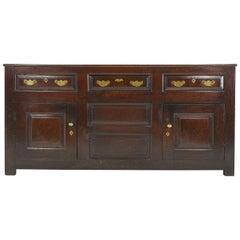 English 18th Century Oak Dresser Base