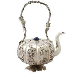 Antique 1920s Iraqi Silver Miniature Teapot