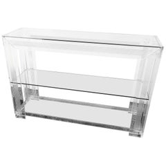 Rare Charles Hollis Jones Lucite Console Table, circa 1970