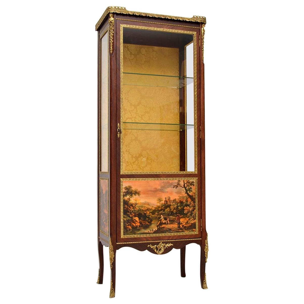 Antique Mahogany Ormolu Mounted Bijouterie Display Cabinet 19th Century Antiques 1800-1899