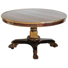 George IV Rosewood and Giltwood Centre Table