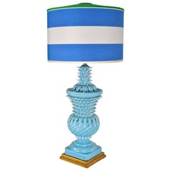Spanish Turquoise Pineapple Table Lamp