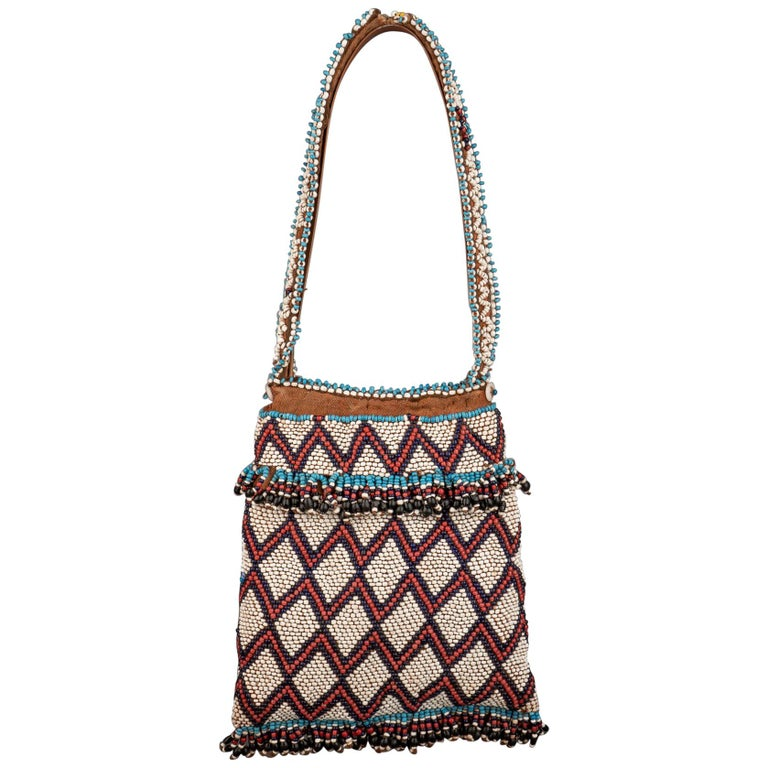 Late 19th Century Tribal Nguni Tobacco Bag, South Africa For Sale