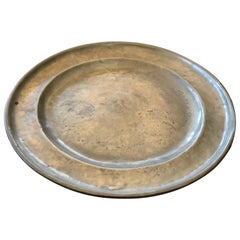 Plate 19th Pewter No Marks