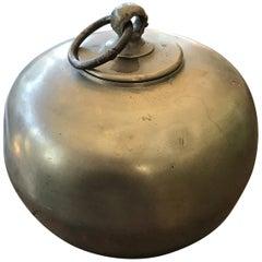 Warm Water Jar in Pewter, 19th Century
