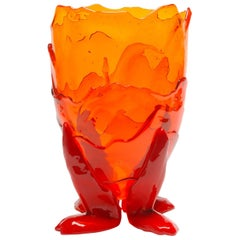 Clear Extracolor Large Vase by Gaetano Pesce