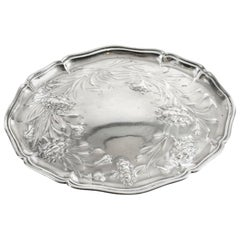Antique Silver Plated Art Nouveau Dressing Table Tray 19th Century