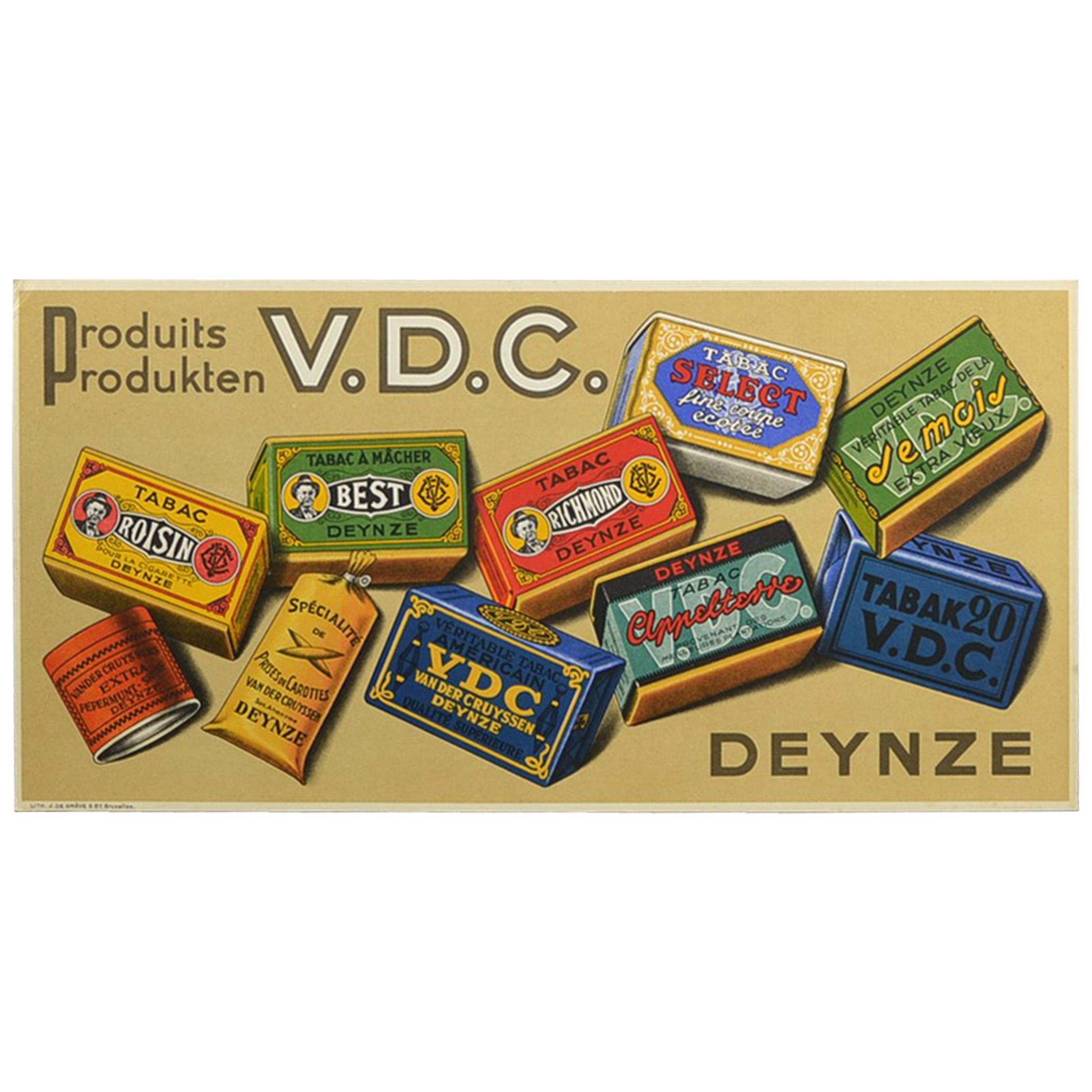 Vintage Tobacco Advertising Sign, Belgium, 1950s
