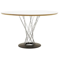 Noguchi Cyclone Dining Table, Out of Production 48 Inch White Top, Signed