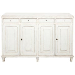 Painted Swedish Buffet Table, circa 1860s