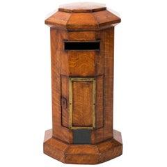 English Oakwood Mailbox, circa 1890