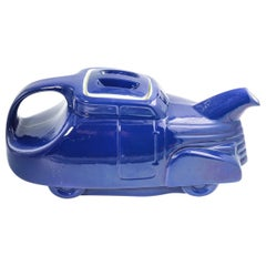 Automobile Teapot in Royal Blue by Hall, circa 1930s