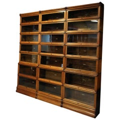 Antique Oak English Globe Wernicke Bookcase