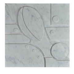 Large Carrara Marble Bas-Relief Aeneas